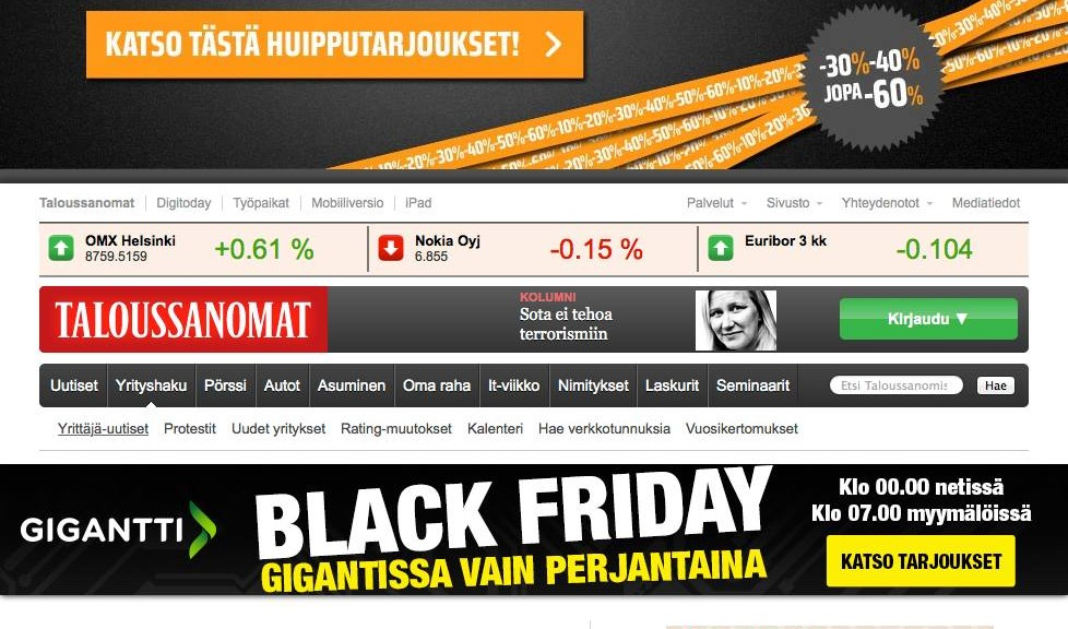 Black Friday Taloussanomat